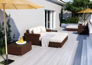 Комплект садовой мебели из ротанга MILANO Royal 1