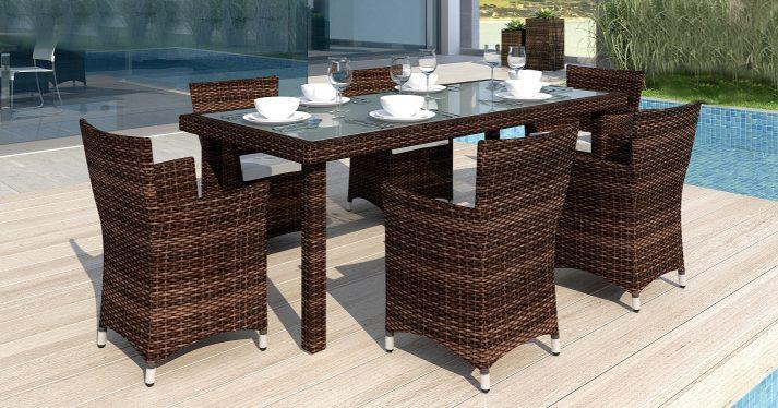 Садовый стол из искусственного ротанга CAPRA 1
