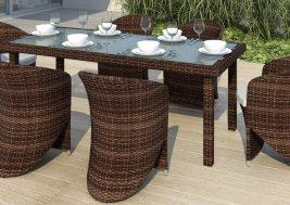 Садовый стол из искусственного ротанга CAPRA 3