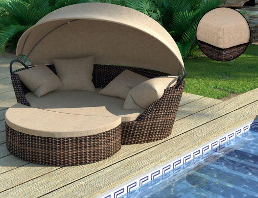 Садовый диван из ротанга Concha