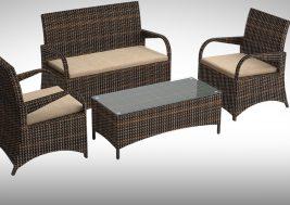 Комплект садовой мебели из ротанга Smeraldo 4