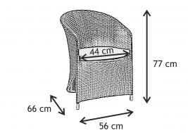 Кресло из искусственного ротанга AQUILA 4