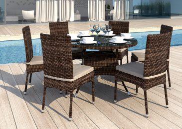Плетеная мебель. Стол из искусственного ротанга MERLO
