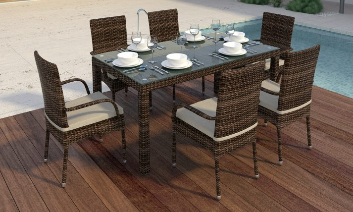 Садовый стол из искусственного ротанга RICCIO 3