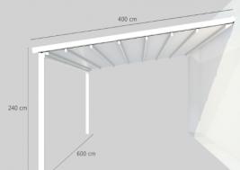 Навес для террасы OMBRA 4x6м 16
