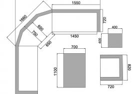 Схема комплекта из ротанга Aperto