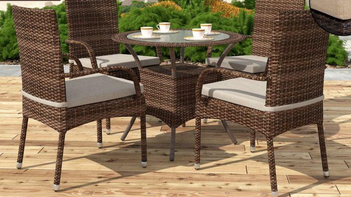 Садовый стол из искусственного ротанга CAPRIOLO 1