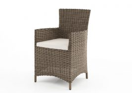 Кресло из искусственного ротанга AMANDA песочный