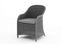 Кресло из искусственного ротанга LEONARDO серый