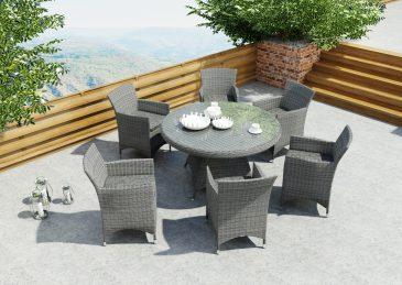 Fotele Amanda I Stol Rondo Royal Szary 130cm 1395662747