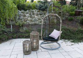 Подвесное кресло NICEA из натурального ротанга 1