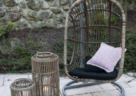 Подвесное кресло NICEA из натурального ротанга 8