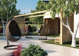 Подвесное кресло для сада Cocoon Royal 7