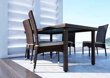 Krzesla Strato I Stol Capri Brazowe 1302527937