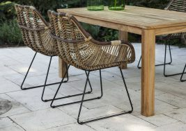 Ретро-стул из натурального ротанга LAVAL 8