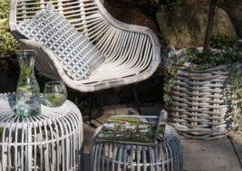 Ретро-стул из натурального ротанга LAVAL 1
