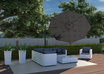 Современный зонт садовый Challenger T² Ø 3,5 м 4