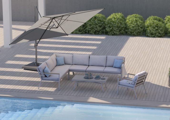 Современный зонт садовый Falcon T² 2,7 х 2,7м 1