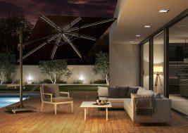 Современный зонт садовый с подсветкой 7