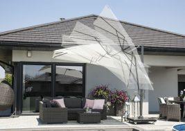 Современный зонт садовый с подсветкой 19