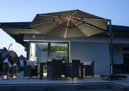 Современный зонт садовый с подсветкой 17