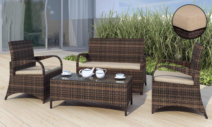 Комплект садовой мебели из ротанга Smeraldo 6