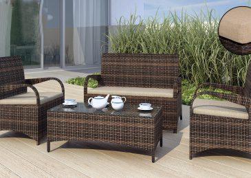 Комплект садовой мебели из ротанга Smeraldo 1