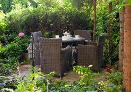 Кофейный столик из техноротанга FILIP и креслла Amanda Royal 3