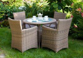 Кофейный столик из техноротанга FILIP и креслла Amanda Royal 2