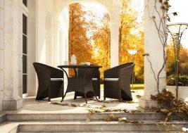 Кофейный столик из техноротанга FILIP и кресла Dolce Vita 3