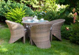 Кофейный столик из техноротанга FILIP и кресла Dolce Vita
