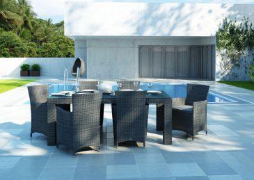 Stol Rapallo 200 Cm Royal Szary I Fotele Amanda 1395661922