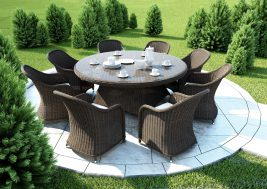 Stol Rondo Royal Braz 180cm I Fotele Leonardo 1395917947