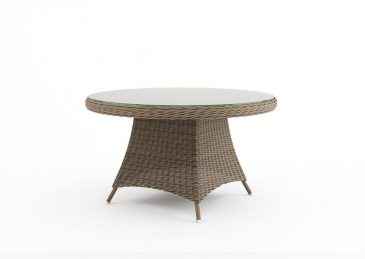 Круглый обеденный стол из ротанга Rondo 6