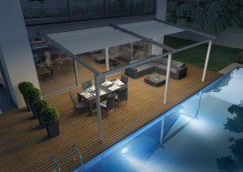 Навес для террасы OMBRA 4x7м с LED-подсветкой 2