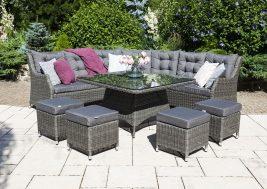 Комплект плетеной мебели Siena цвет серый 1