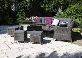 Комплект плетеной мебели Siena цвет серый 2