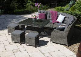 Комплект плетеной мебели Siena цвет серый