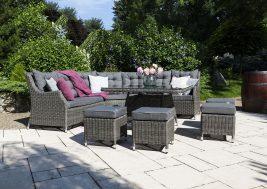 Комплект плетеной мебели Siena цвет серый 3