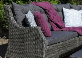 Комплект плетеной мебели Siena цвет серый 6