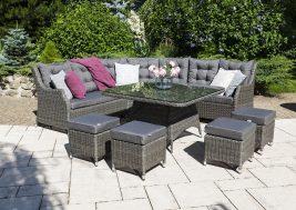 Комплект плетеной мебели Siena цвет серый 7