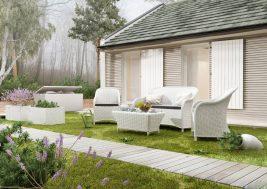 Комплект садовой мебели Leonardo цвет белый