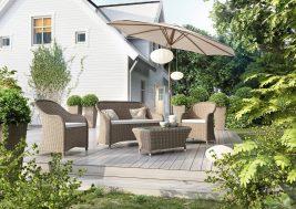 Комплект садовой мебели Leonardo цвет песочный