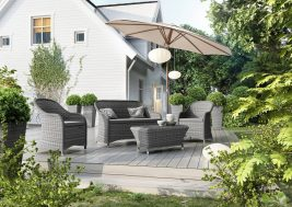 Комплект садовой мебели Leonardo цвет серый
