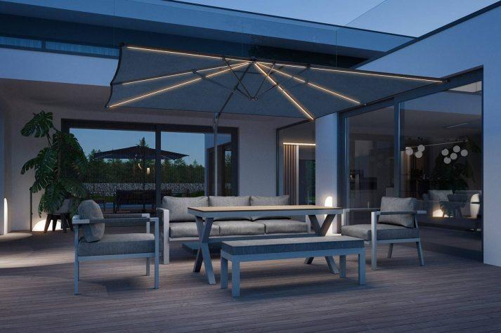 комплект мебели из алюминия Grado 7